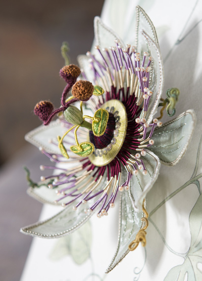 Three-dimensional and life-size Passion flower, Passiflora