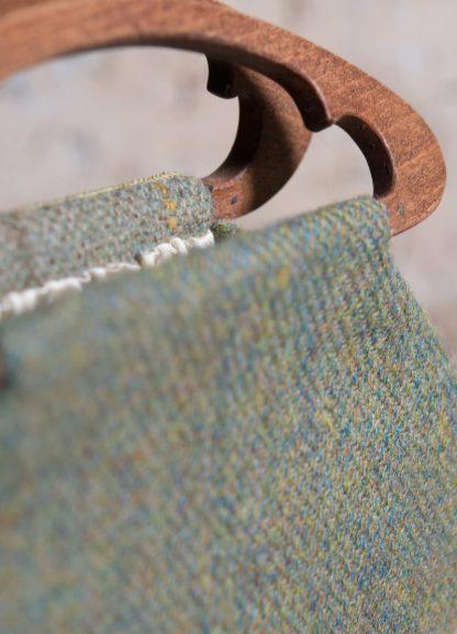 Edelweiss Handbag bespoke wooden handle details