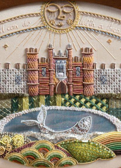 Hampton Court Sampler stitching close up