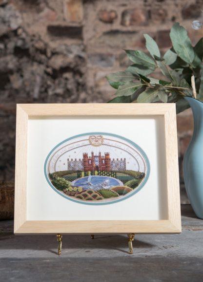 Hampton Court Sampler, in frame
